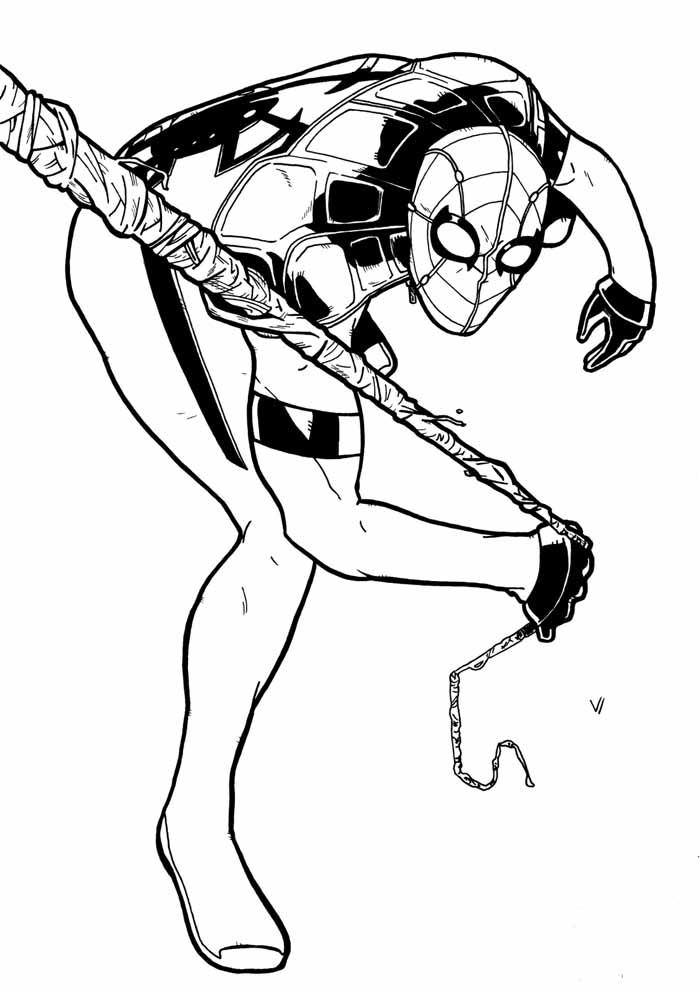 colorir homem aranha