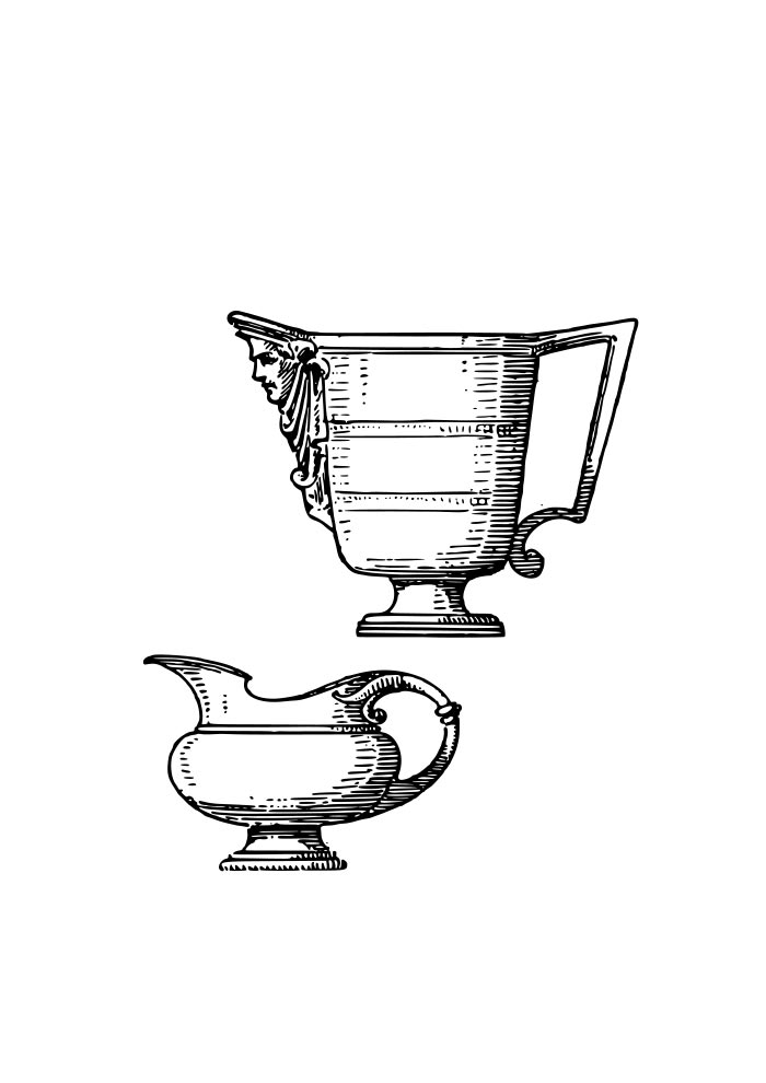 conjunto jarras pequenas para colorir