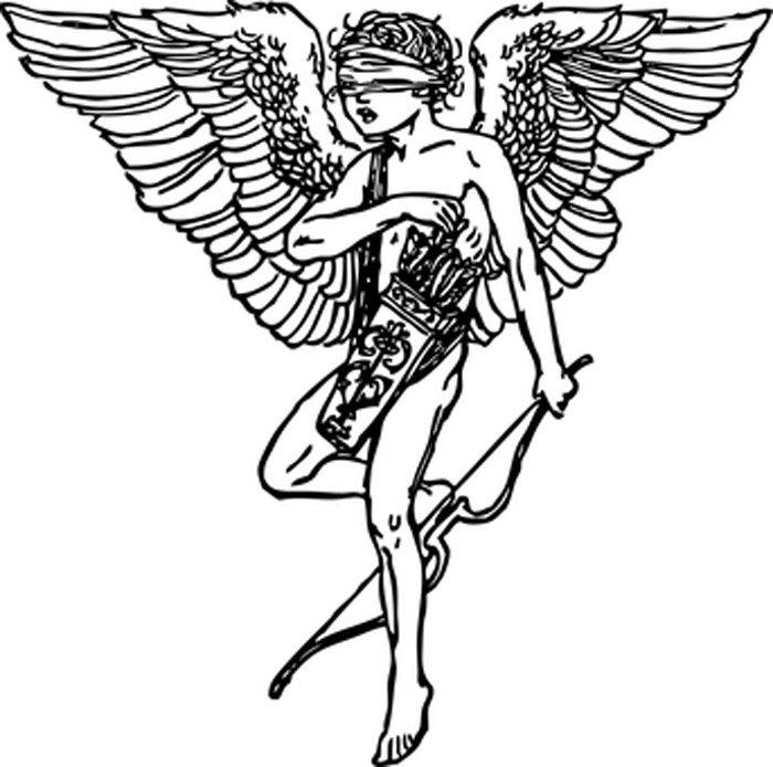 cupido anjo para colorir