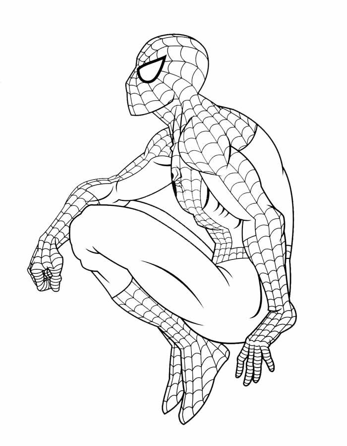 desenho colorir homem aranha