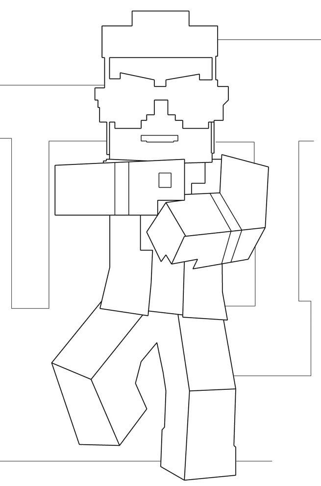 desenho colorir minecraft