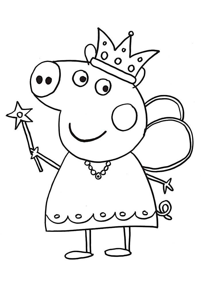 desenho da peppa pig para colorir