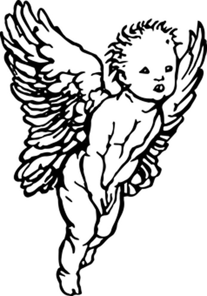 desenho de anjo pequeno para colorir