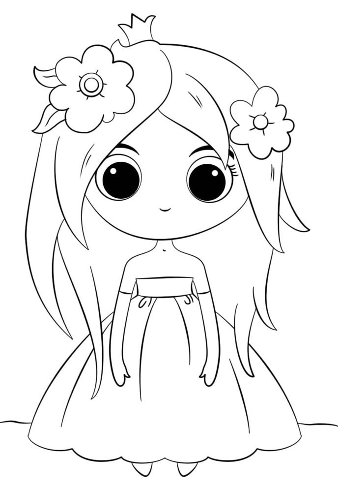 desenho de boneca kawaii
