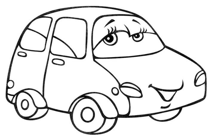 desenho de carro para colorir infantil
