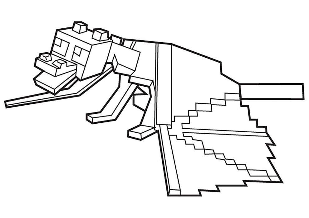 desenho de colorir do minecraft