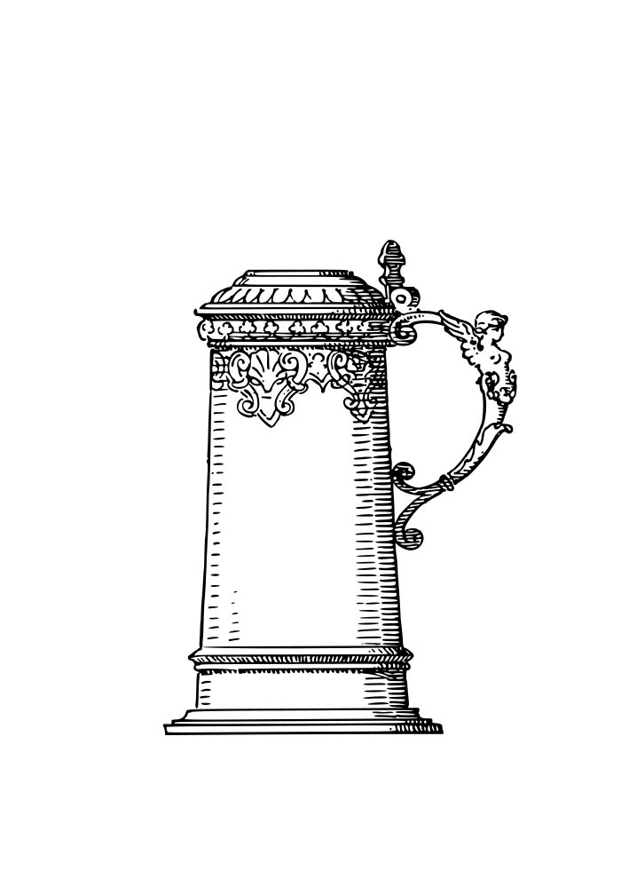 desenho de jarra para imprimir