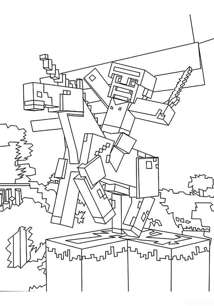 desenho de pintar do minecraft