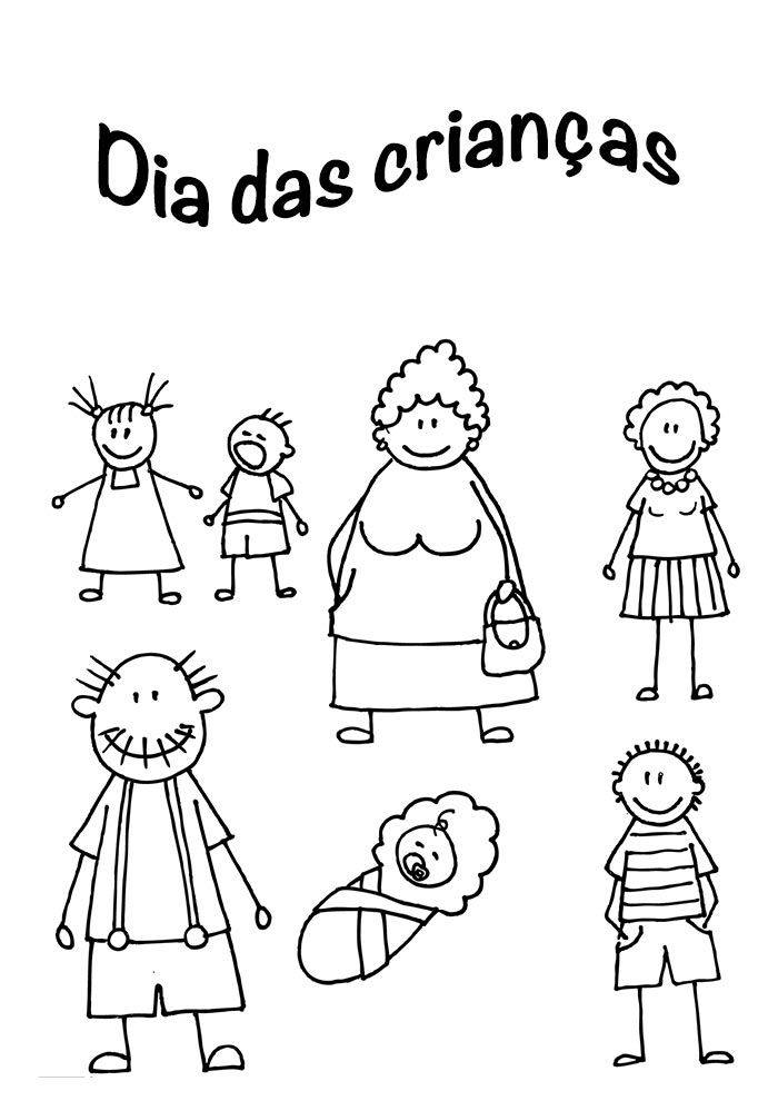 desenho dia das crianças para imprimir