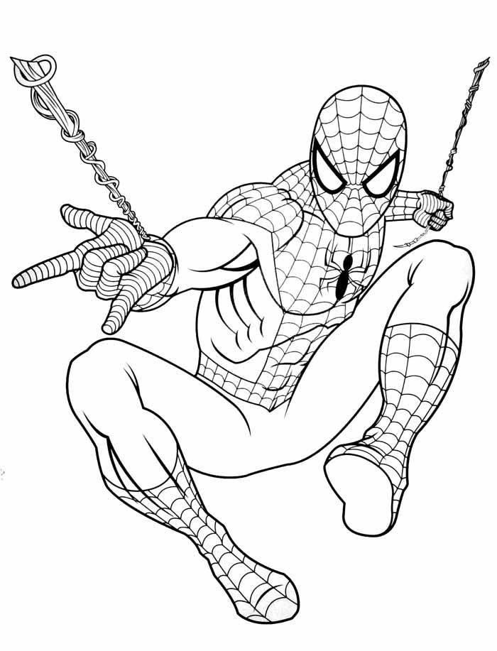 desenho do homem aranha para colorir
