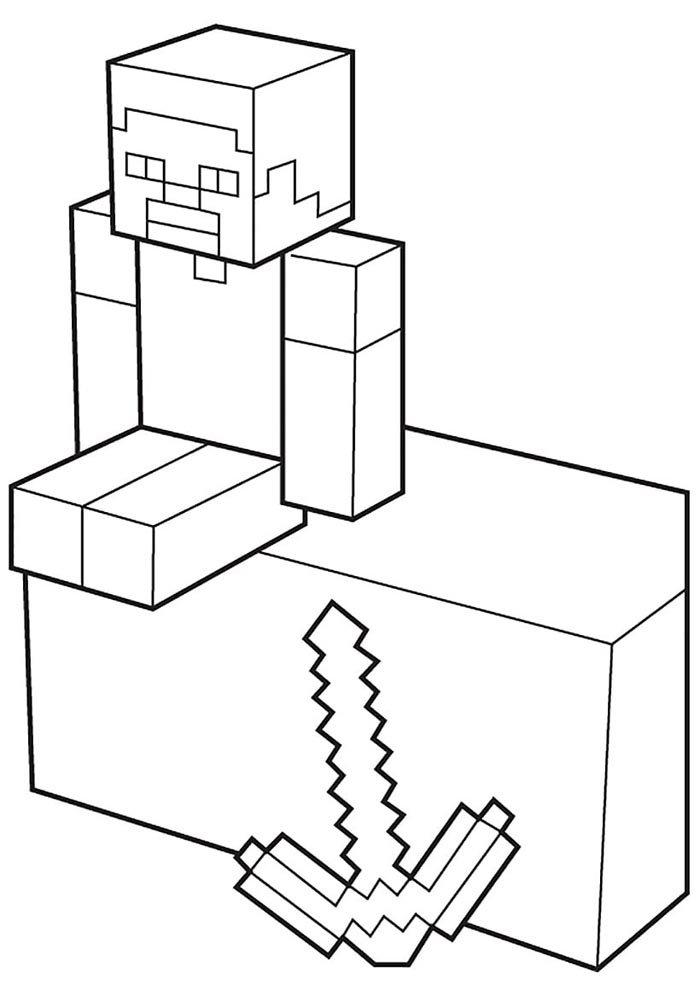 desenho do minecraft para colorir