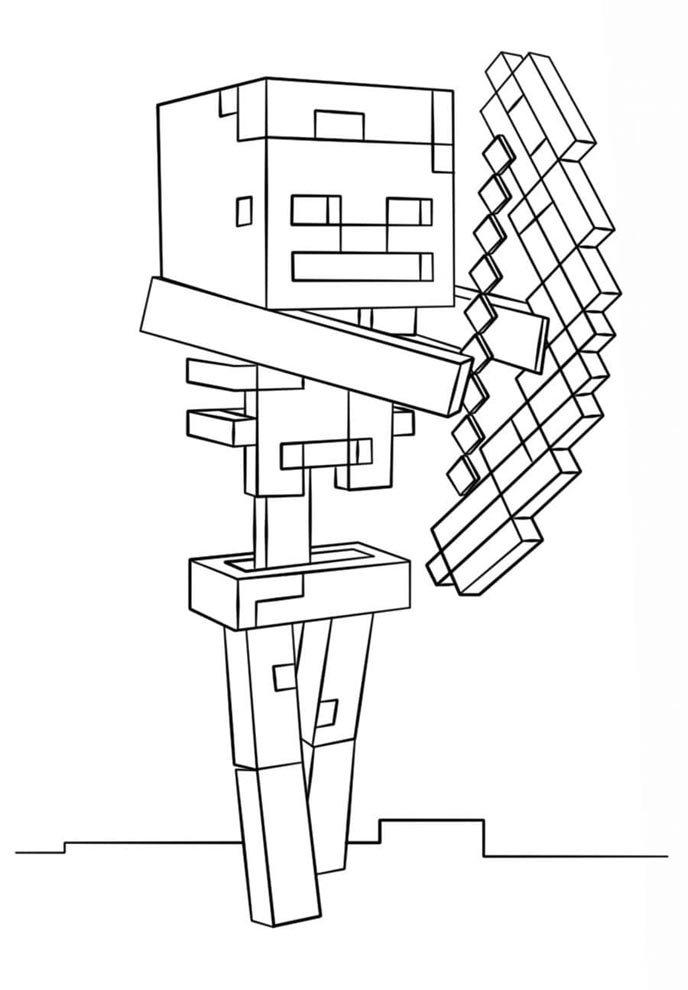 desenho do minecraft para pintar