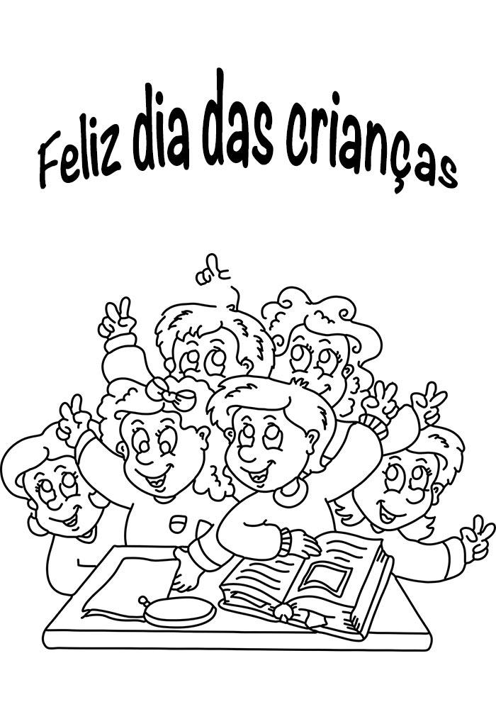 desenho feliz dia das crianças