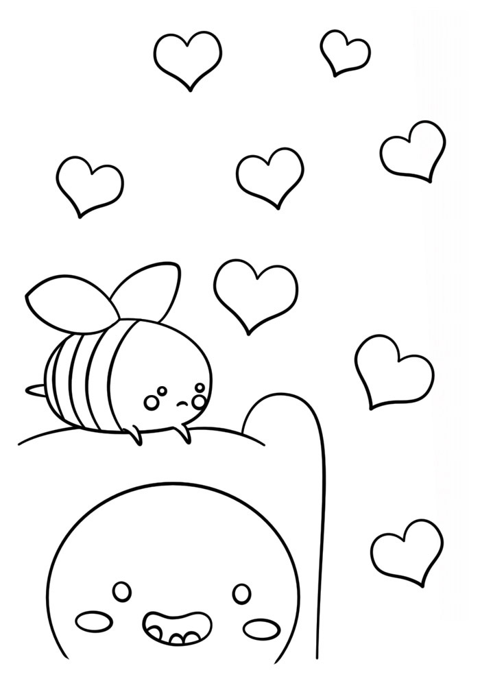 desenho kawaii para colorir 4