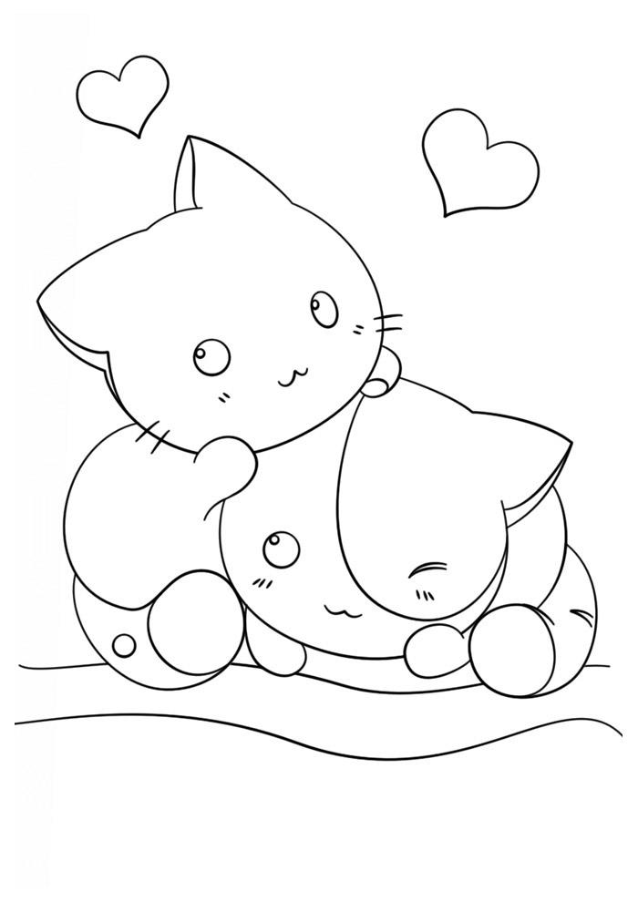 desenho kawaii para colorir 5