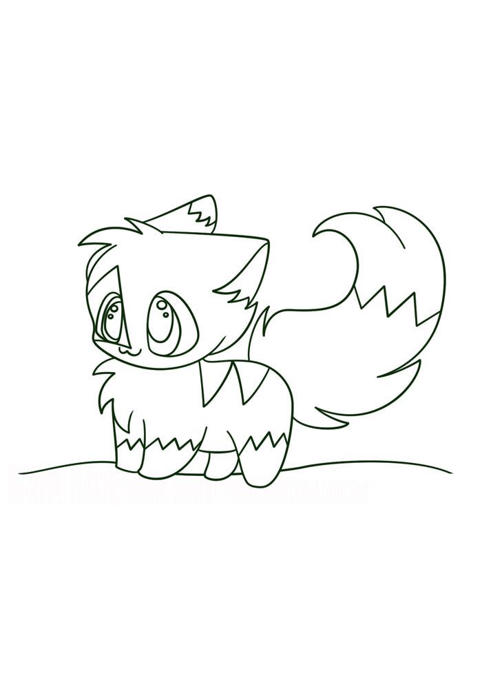 desenho kawaii para colorir 8