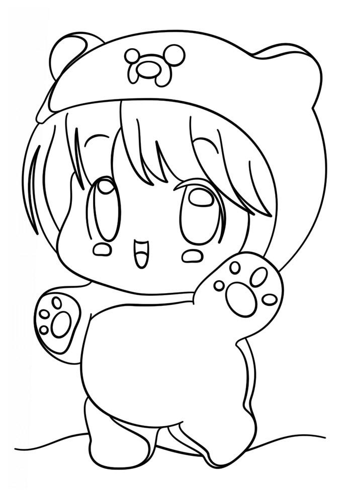 desenho kawaii para colorir 9