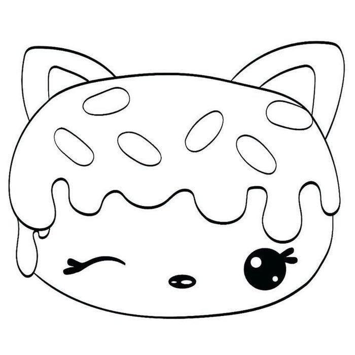 desenho menina kawaii para colorir