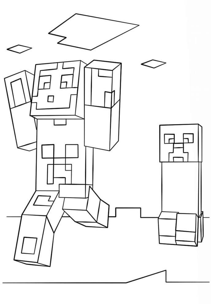 desenho minecraft para colorir
