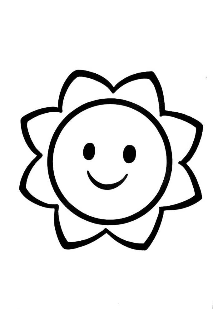 desenho para colorir criança pequena