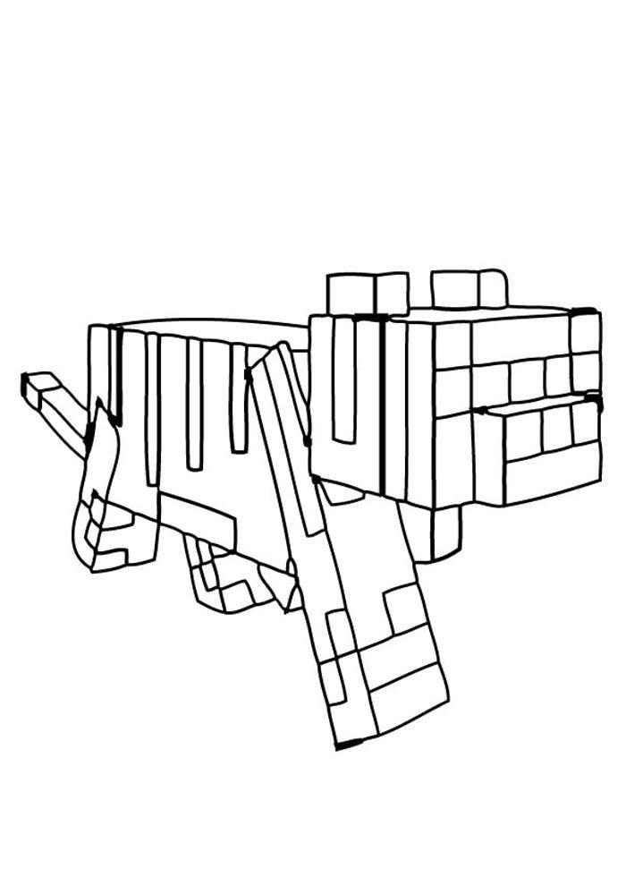 desenho para colorir minecraft imprimir
