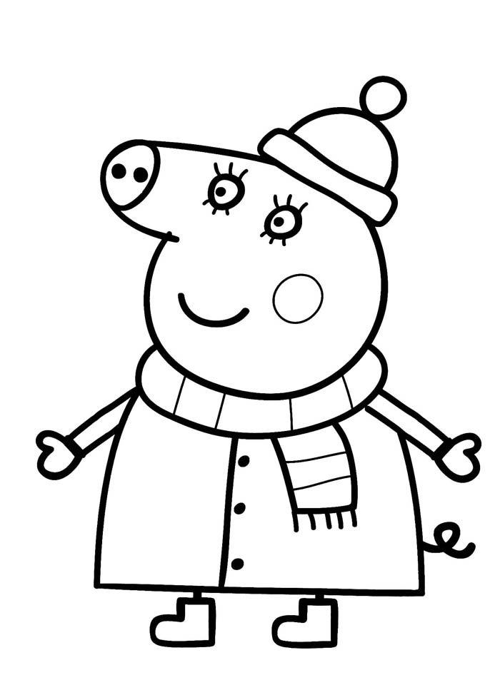 desenho para colorir peppa