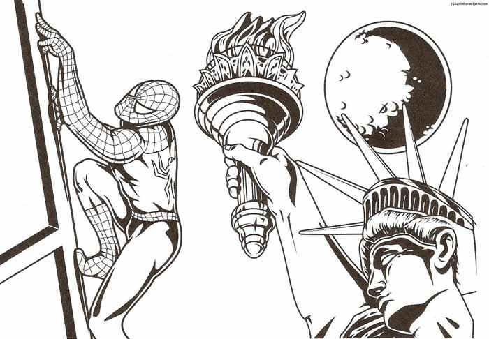 desenho para imprimir homem aranha