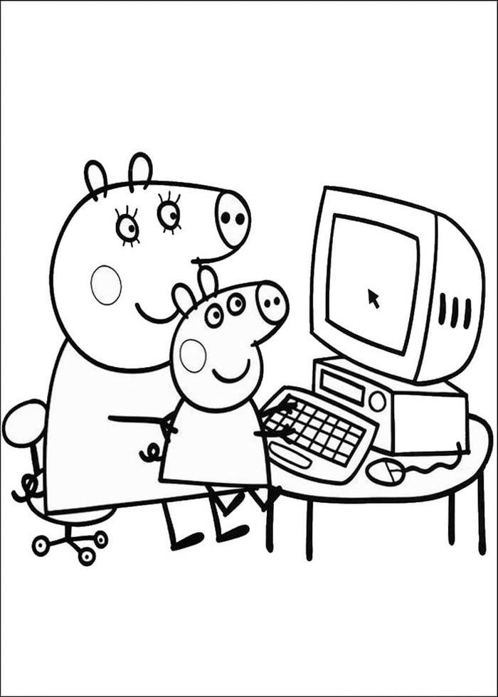 desenho para pintar da peppa pig
