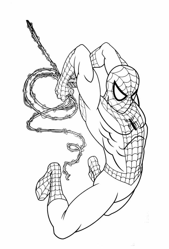 desenho para pintar do homem aranha
