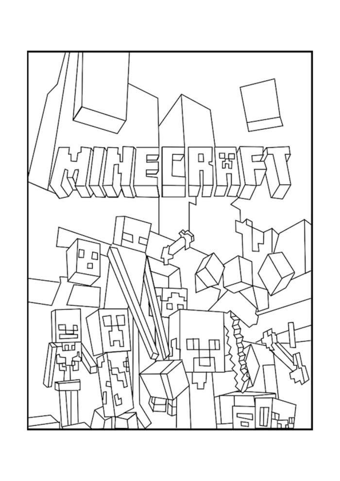desenho para pintar do minecraft