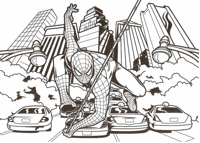desenho para pintar homem aranha