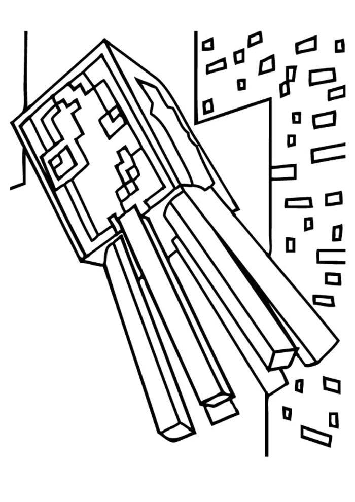 desenho para pintar minecraft imprimir
