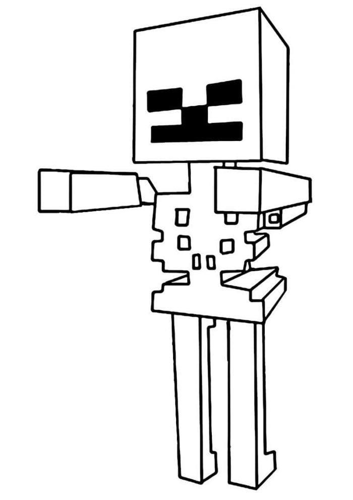 desenho para pintar minecraft