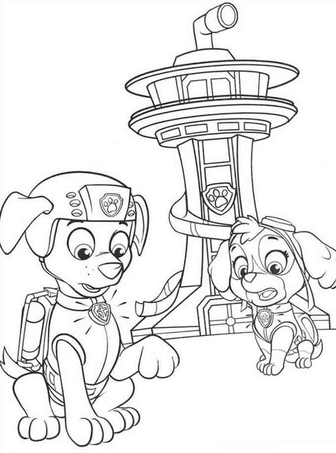 desenho para pintar patrulha canina