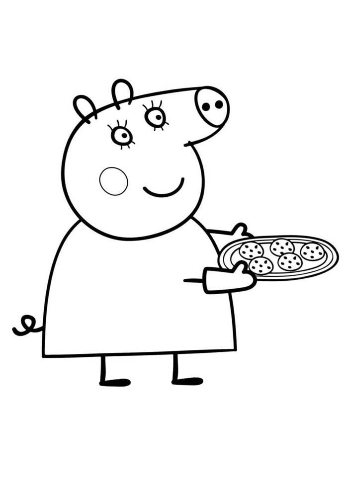 desenho peppa pig colorir