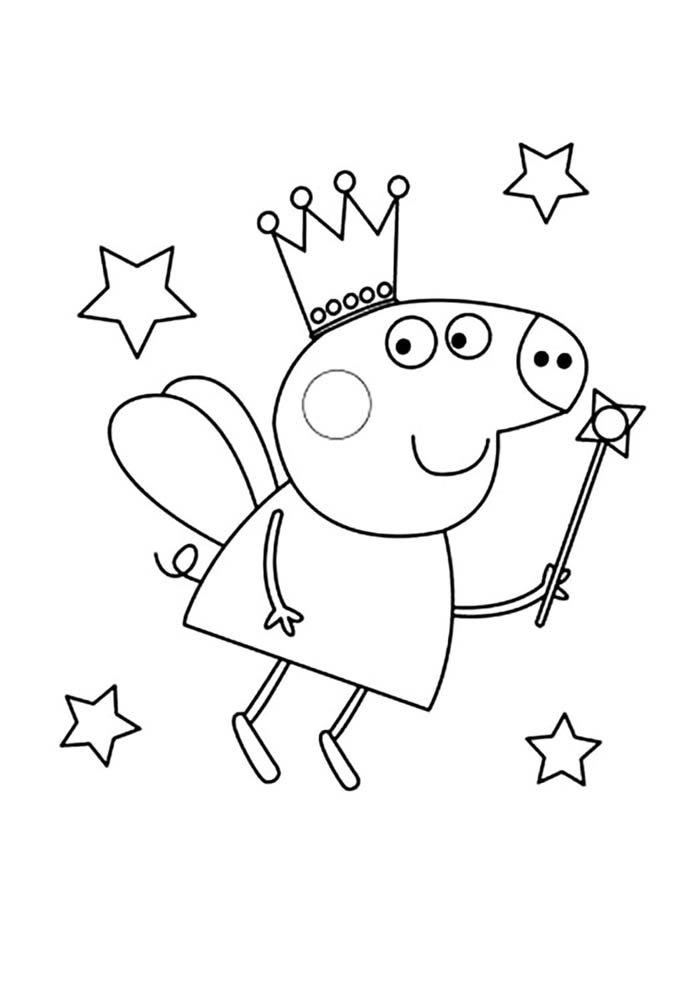 desenho peppa pig para colorir