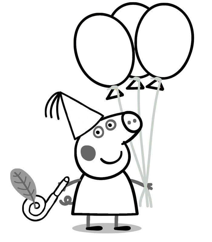 desenho peppa pig para pintar