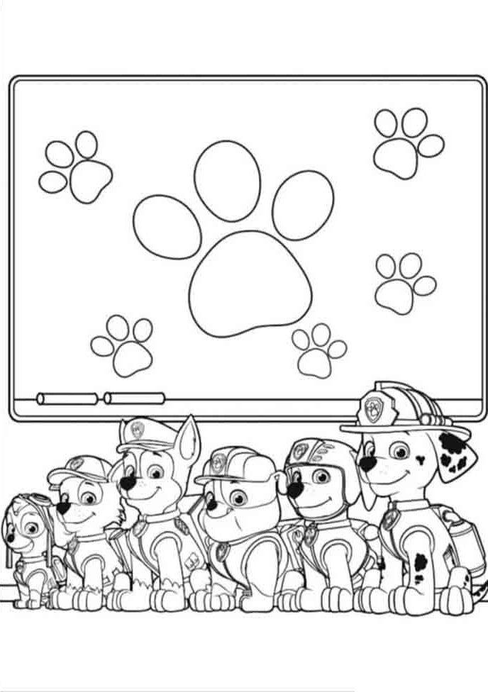 desenho pintar patrulha canina
