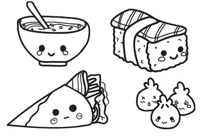 desenhos de comida kawaii