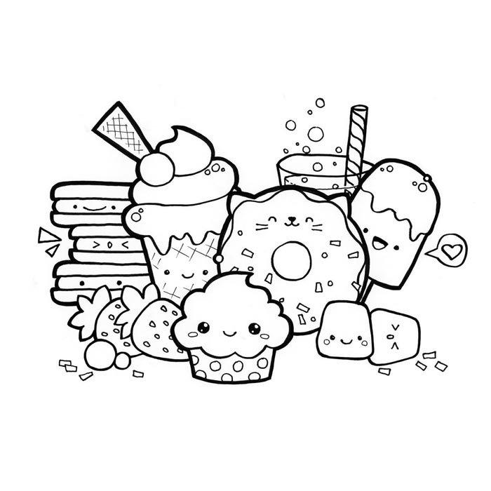 desenhos de comidas kawaii