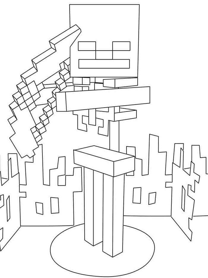 desenhos de minecraft para imprimir