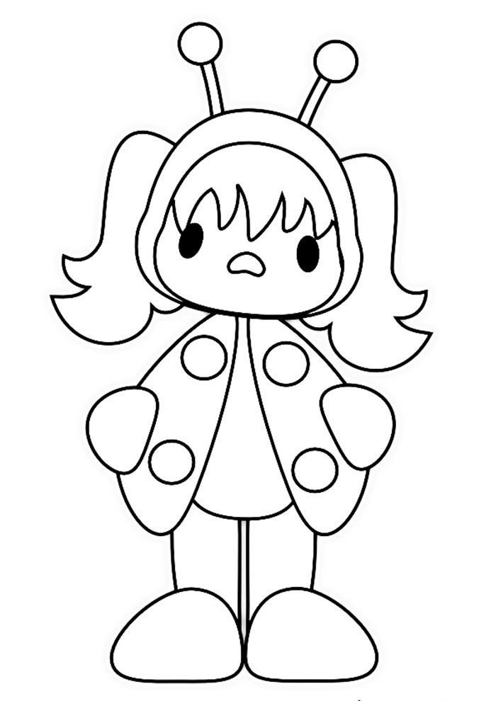 Ladybug para colorir