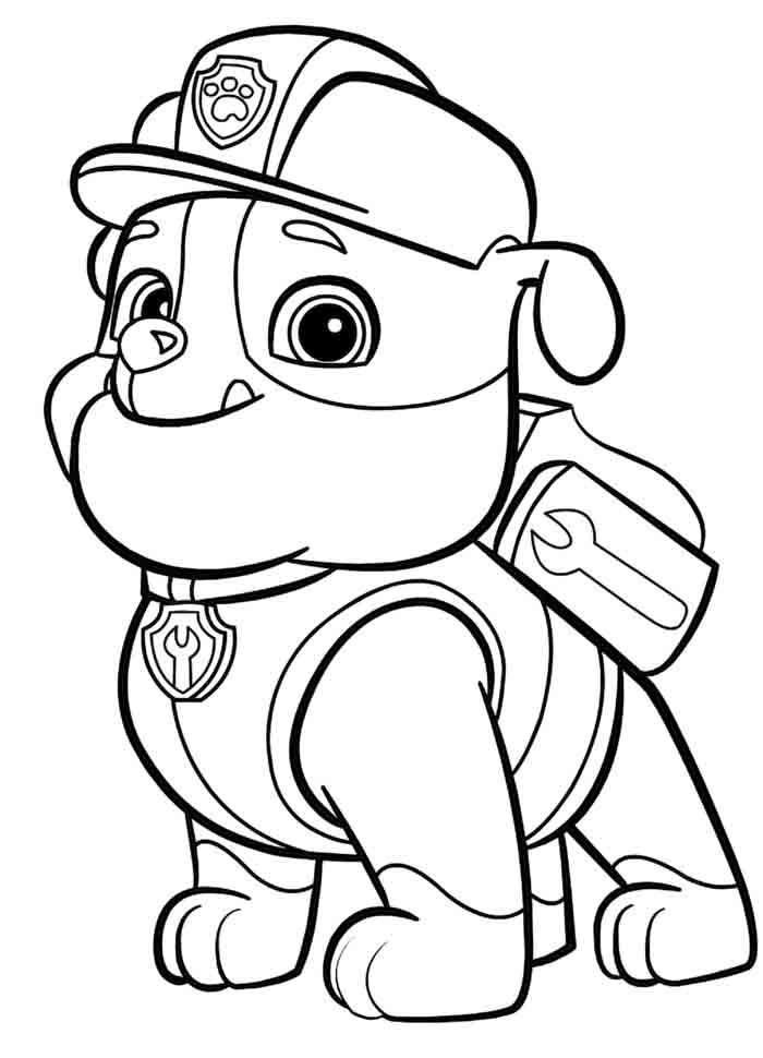 desenhos para colorir patrulha canina imprimir