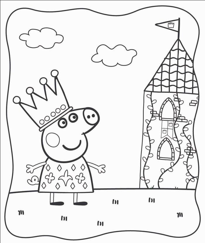 desenhos para colorir peppa pig imprimir