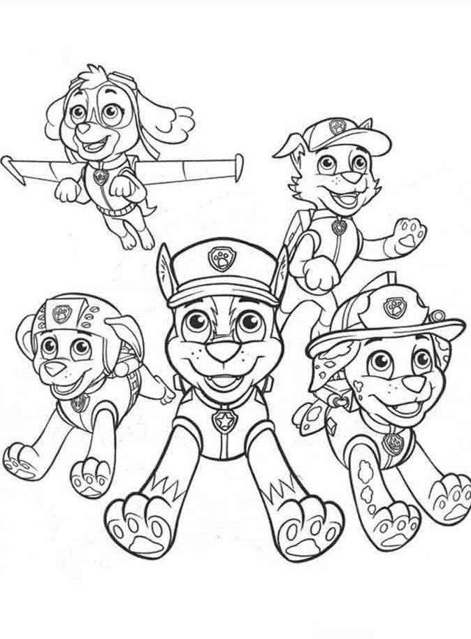 desenhos para imprimir e colorir patrulha canina