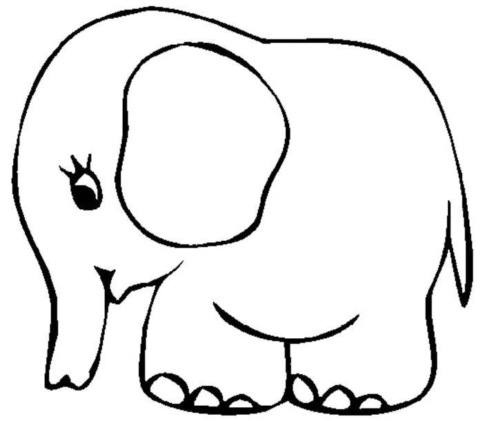 elefante para colorir infantil
