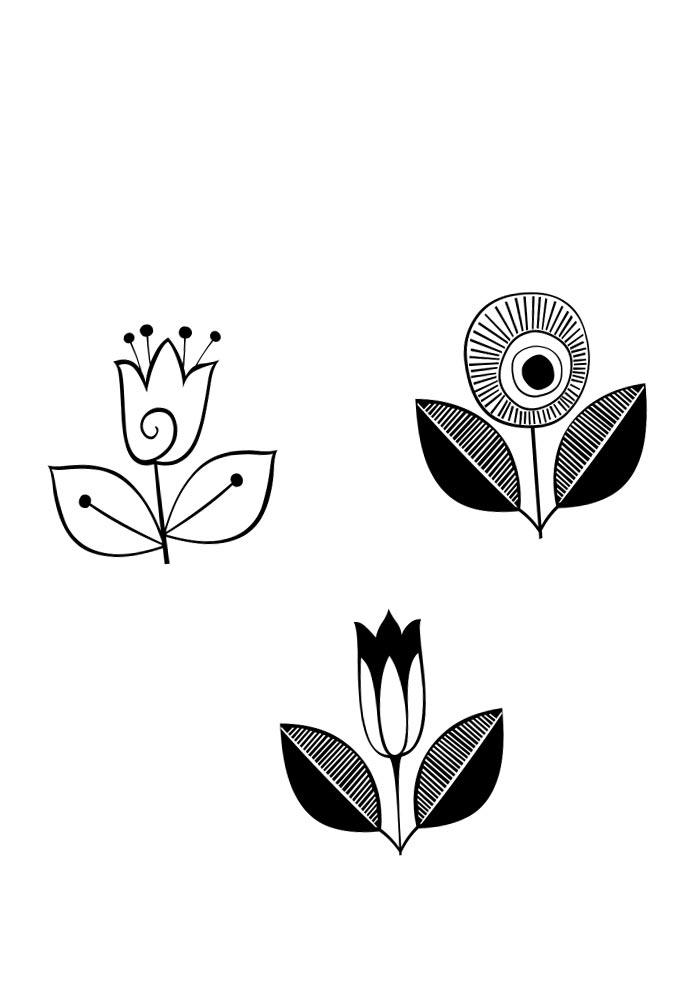 flores fofas para colorir