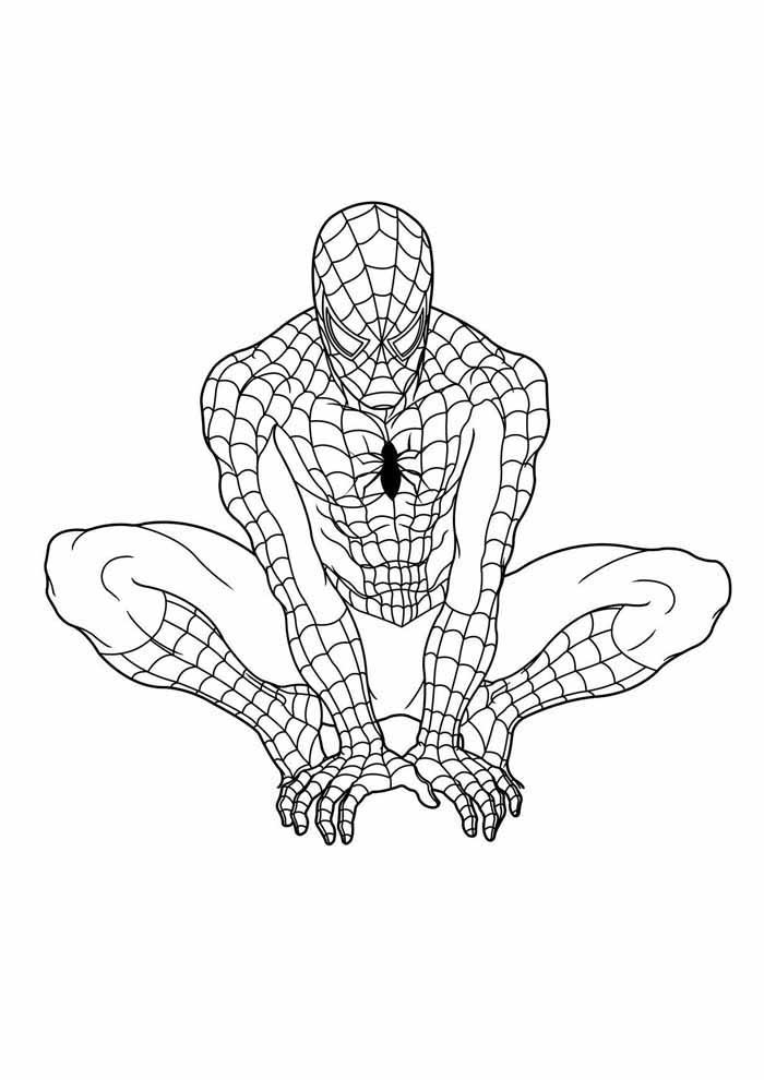 homem aranha para colorir 11