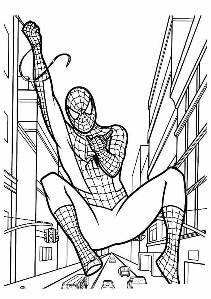 homem aranha para colorir 12