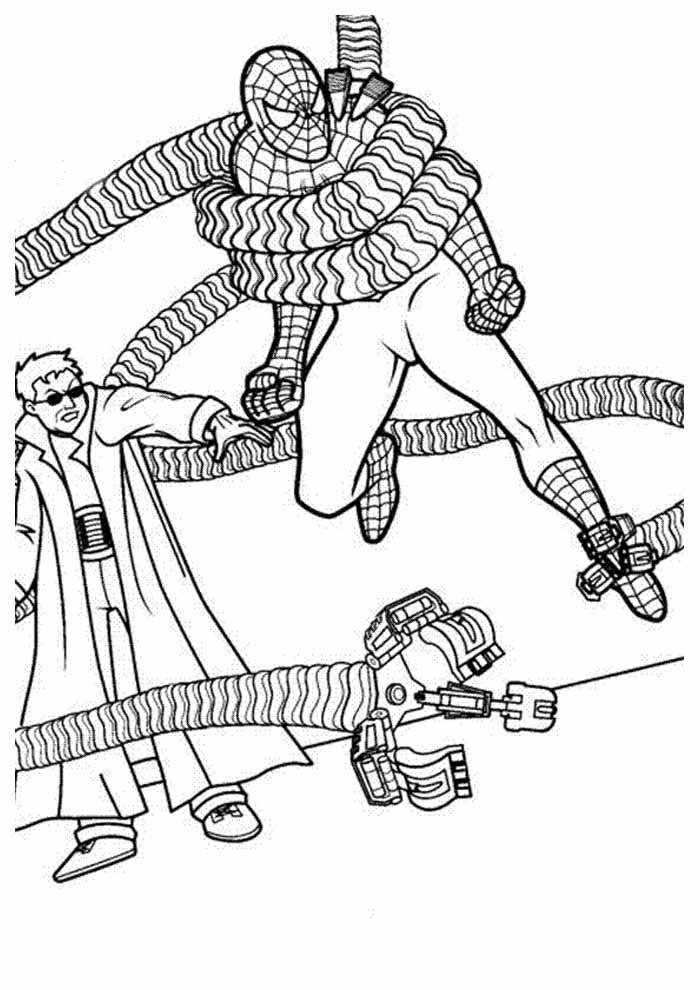 homem aranha para colorir 13
